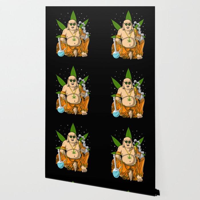 Buddha Weed Smoking Stoner Wallpaper By Teecave Society6