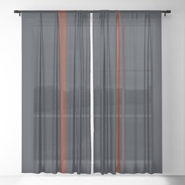vermilion line Sheer Curtain