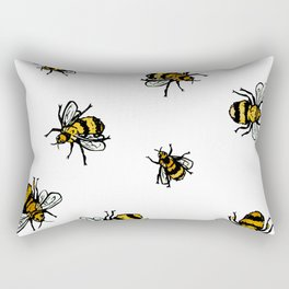 Just Some Beez A - White Rectangular Pillow