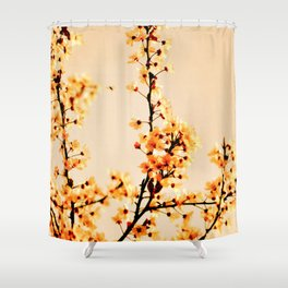SPRING BLOSSOMS IN ORANGE Shower Curtain