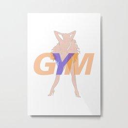 GYM Woman 2 Metal Print