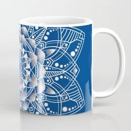 Vibrant Blue Mandala Coffee Mug