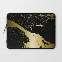 GRUNGE SPLASH | black gold Laptop Sleeve