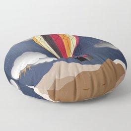Balloon Aeronautics Rain Floor Pillow