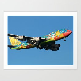 All Nippon Airways - ANA Boeing 747-481D Art Print