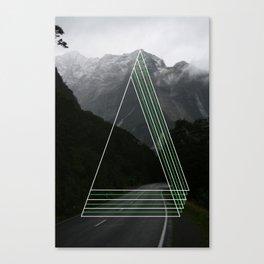 Rainy Road Trip. Canvas Print
