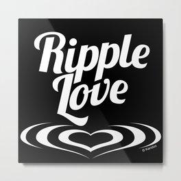 RIPPLE LOVE white Metal Print