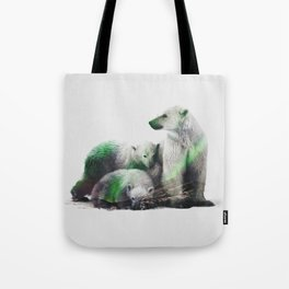 Arctic Polar Bear Family Tote Bag