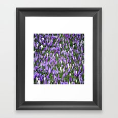 nature in lilac Framed Art Print