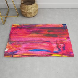 Rainbow Party Abstract Painting Rug