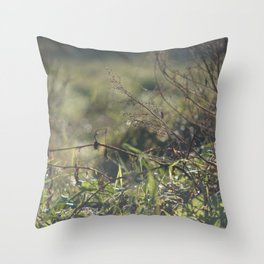 Light on Grass Throw Pillow