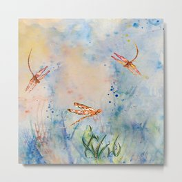 Spirit of the Dragonfly Metal Print
