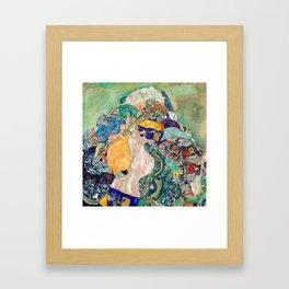Klimt - Baby Cradle - Nursery Decor - Wall Art Framed Art Print