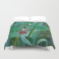 clover Duvet Covers featuring Clover by Christine baessler