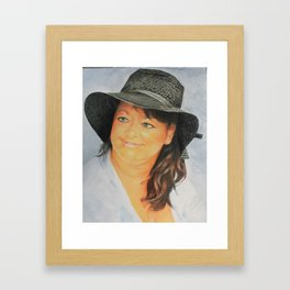 Missi and the Hat Framed Art Print
