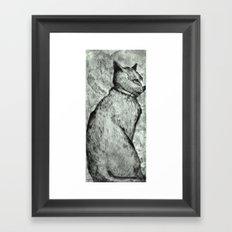 Wise Old Cat Framed Art Print
