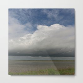 Clouds Over The Marsh Metal Print