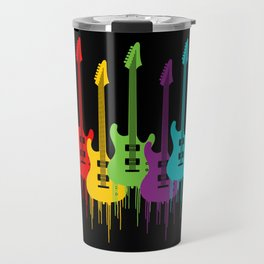 Colorful Guitars | Music is the color for the ears Travel Mug