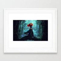 brave Framed Art Prints featuring Brave by Juniper Vinetree