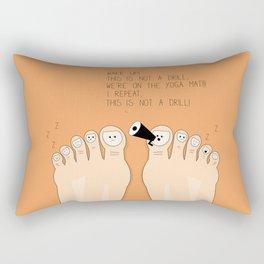 Funny illustration of feet on the yoga mat Rectangular Pillow
