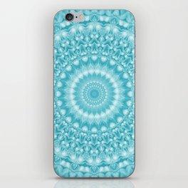 Caribbean Blue Mandala iPhone Skin
