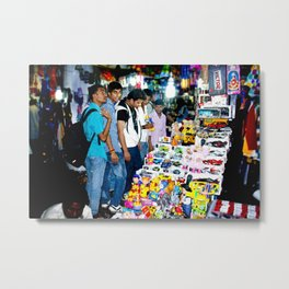 Mumbai Crowds - V T Station - 12 Metal Print
