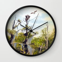 Nesting Ospreys In The Southern USA Wall Clock
