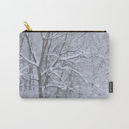 Washed White Carry-All Pouch