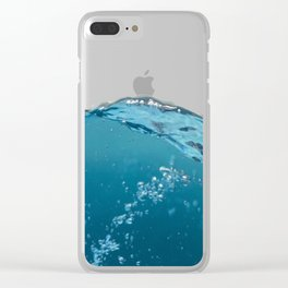submerge in water Clear iPhone Case