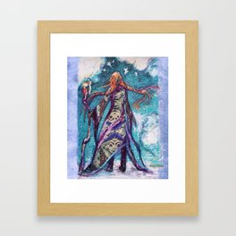 Technology indistinguishable from magic Framed Art Print