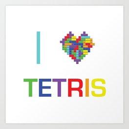 I heart Tetris Art Print