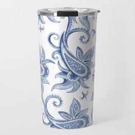 Paisley: Monaco Blue Travel Mug