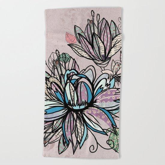Paper Flowers #1 Beach Towel