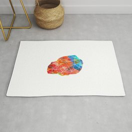 Skull Made of Color Rug