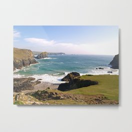Kynance Cove on the Lizard Peninsula Metal Print