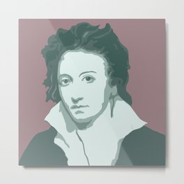 Percy Bysshe Shelley Metal Print