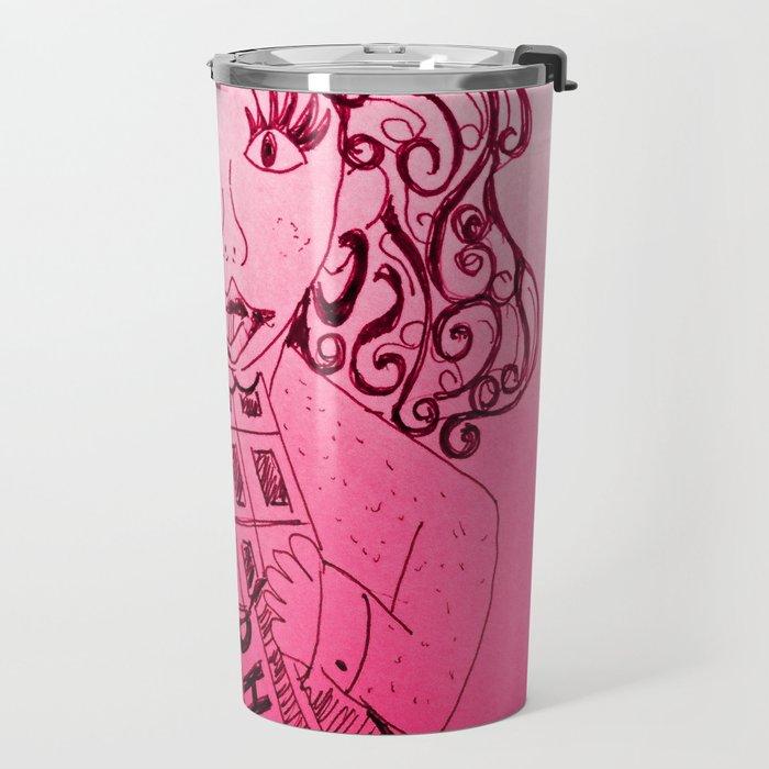 Chocolate, a girls best friend Travel Mug