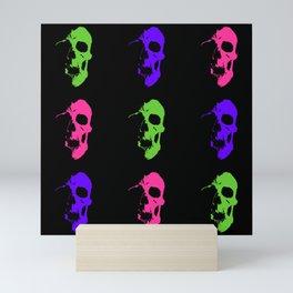 Skull 3x3 - Lime/Purple/Pink Mini Art Print
