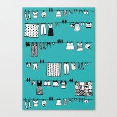 Laundry Doodle Canvas Print