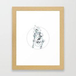 Flaming Head Framed Art Print