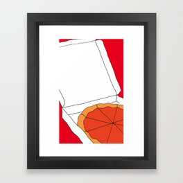 Hot Pizza Box Framed Art Print