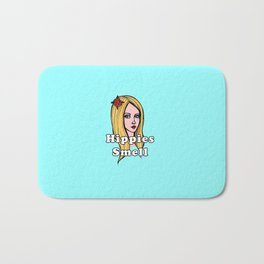 Hippies Smell (Teal Version) Bath Mat
