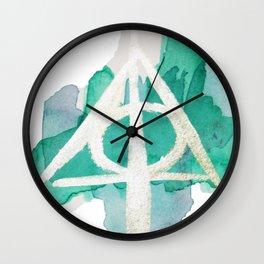 Watercolor Hallows Wall Clock
