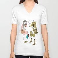 moonrise kingdom V-neck T-shirts featuring moonrise kingdom by joshuahillustration