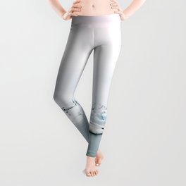 Beautiful glacier lagoon winter Leggings