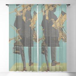 ABSTRACT JAZZ Sheer Curtain