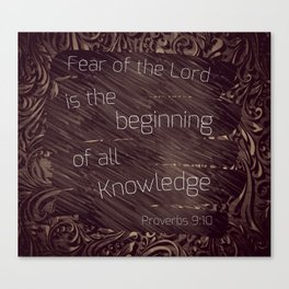 Fear is knowledge Canvas Print