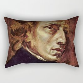 The Portrait of Frédéric Chopin by French artist Eugène Delacroix (1838) Rectangular Pillow