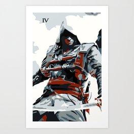 Assassin's Creed IV Black Flag Edward Minimalistic Art Print