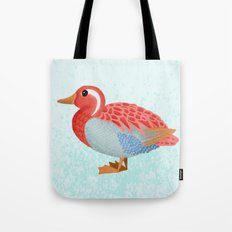Orange Duck Tote Bag